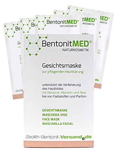 Bentonite MED Face Mask 5 x 12 ml, Natural cosmetics