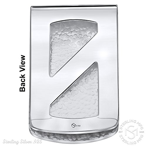 Clip Money 925 Silver In Made Sterling Designed Solid Italy Silver Stripe Engravable Elegant and Large Design qAz8UW