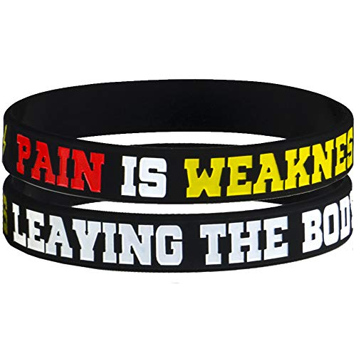 AMPM Collective | Silicone Motivational Wristbands | Rubber Inspirational Quote Bracelets | Unisex for Men Women Teens | for Daily Gym Workout Perseverance and Exercise Motivation (6 Pack) 4