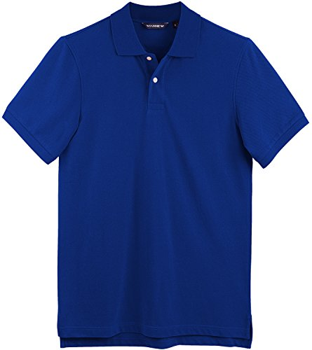 (WANNEW Polo Shirts for Men - Mens Polo Shirt Cotton -Short Sleeve Polo Regular-Fit (XXL, Royal Blue))