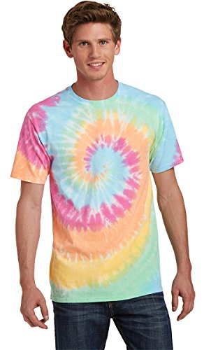 Port & Company Mens Essential Tie-Dye Tee PC147 -Pastel Rainb XL ()