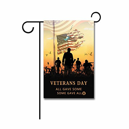 Hamory Thank You Military Service Garden Flag Memorial Veter