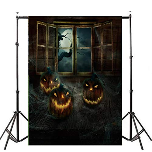 Oksale Halloween Backdrops Pumpkin Vinyl 3x5FT Lantern Background Photography Studio (C) ()