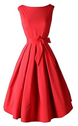 YOGLY Damen Kleid Elegant Knielang U-Ausschnitt VintageKleid Abendkleider  Brautkleid Cocktailkleid Ballkleid Minikleid Sommerkleid Partykleider 08d7a2ffc6