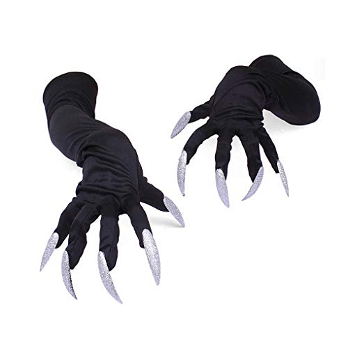 Halloween Long Claws Cosplay-Gloves for Costume Party Fingernails Gloves]()