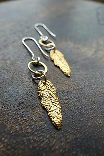 6b0dd08162496 Amazon.com: chaujewl Mint Leaf Earrings, Gold Mint Leaves, Mixed ...