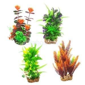 Brand New 4X High-Simulation Aquarium Plants Grass with Base for Fish Tank Decoration