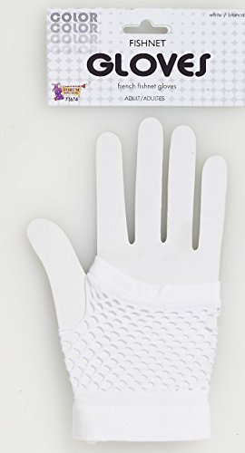 Forum Novelties 71674 Short Fishnet Gloves, White, One Size, Multicolor (Pack of 12)