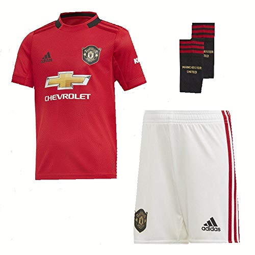adidas Manchester United FC Official 2019/20 Home Mini Kit - Youth - Red - Age 2-3