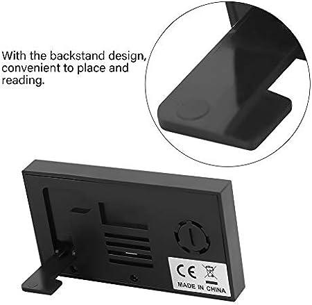 YOPOTIKA Higrómetro portátil del termómetro del LCD de Digitaces 0~50℃ 10%RH ~ 99%RH negro