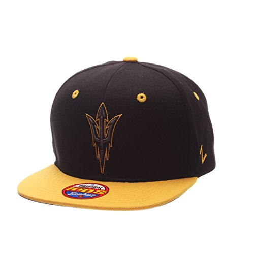 NCAA Arizona State Sun Devils Children Boys Youth Z11 Phantom Snapback Hat, Adjustable Size, Black/Team Color