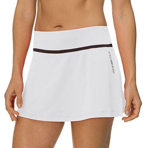 (Fila Women's Platinum Comfort Tennis Skorts XS White)