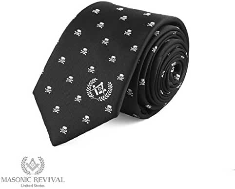 Memento Mori Necktie by Masonic Revival // Skull and Bones