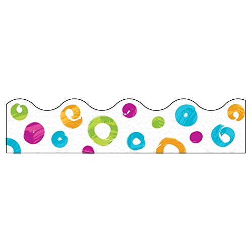 (Color Harmony Swirl Dots Terrific Trimmers, 39' Per Pack, 6 Packs)