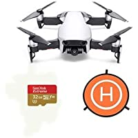 DJI MAVIC Air Arctic White - Bundle With 32GB SDHC U3 Card, 75cm Protective Fast-fold Drone Landing Pad