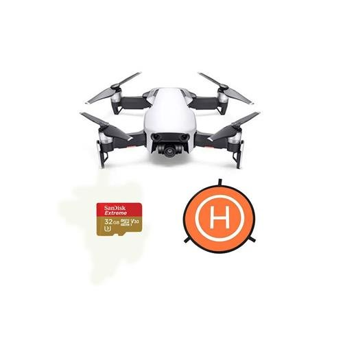 DJI MAVIC Air Arctic White - Bundle With 32GB SDHC U3 Card, 75cm Protective Fast-fold Drone Landing Pad Arctic White Sphere