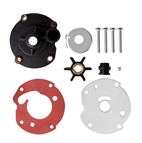Createshao Outboard Water Pump Impeller Repair Kits for Johnson Evinrude Replacement 763758 5.5, 7.5 1954-1964 & 6 HP 1965-1979 ()