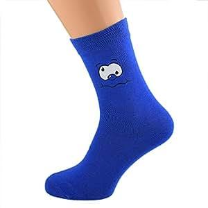 Azul Funny Face novedad calcetines tamaño adulto UK 6–12Euro 39–46(x6N180)