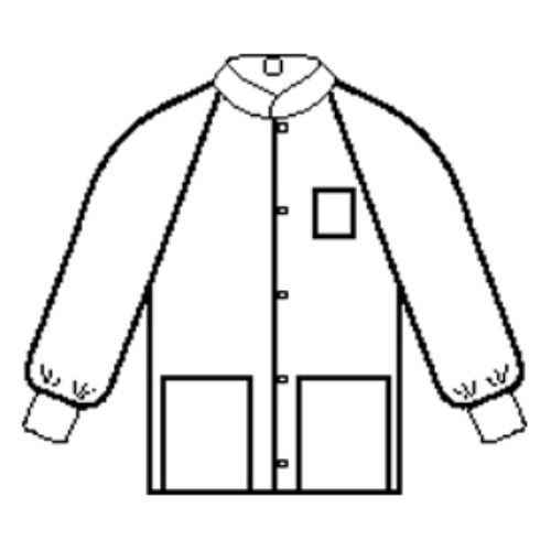 Halyard Health 10072 Universal Precautions Lab Jacket, Large, White (Pack of 25)