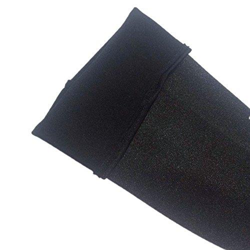 Solatin Classic Long Shiny Stretch Satin Dress Gloves Opera/Party Length Satin Gloves Black 15 Inches