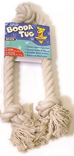 Booda Products 50802 3 Knot Rope Tug Dog Toy White, Extra Large (Booda Toy Dog)