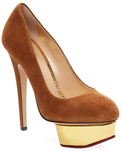charlotte olympia Dolly Suede Platform Pump, 40