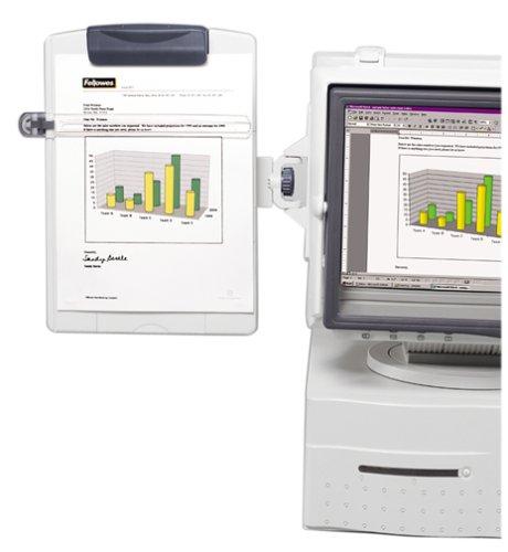 Monitor Mount Copyholder Fellowes (Fellowes Monitor Mount Copyholder - Mounts On Either Side Of Monitor)