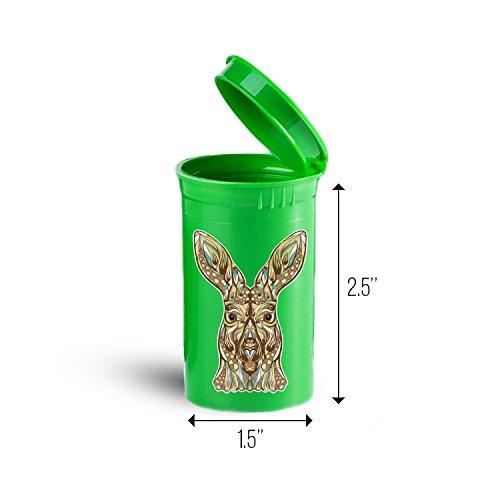 Kangaroo Head Animal Pill, Drug and Vitamin Container ID 3546G