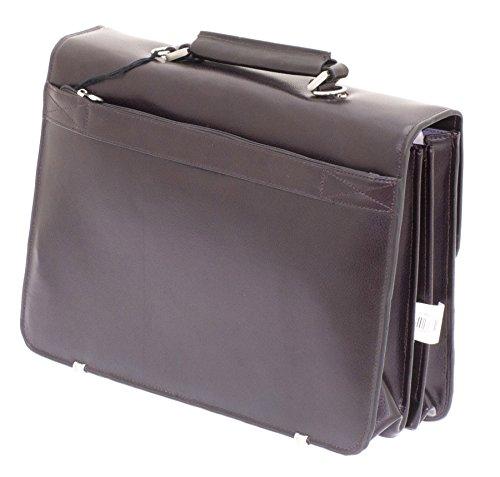 Davidts Aktentasche Echt Leder Laptoptasche Dunkel Braun 462106 Bowatex