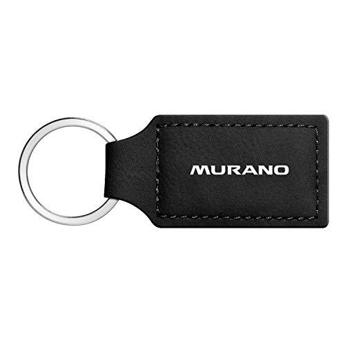 iPick Image - Nissan Murano Rectangular Black Leather Key Chain Key-Ring