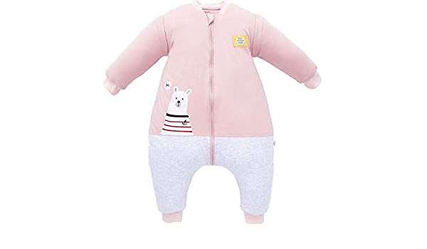 Pijama recién nacido Saco de dormir para bebés 6-18 meses Patas de algodón orgánico Mangas desmontables siamesas Four Seasons Piel Respiración Transpiración Anti-susto Niños Unisex: Amazon.es: Bebé