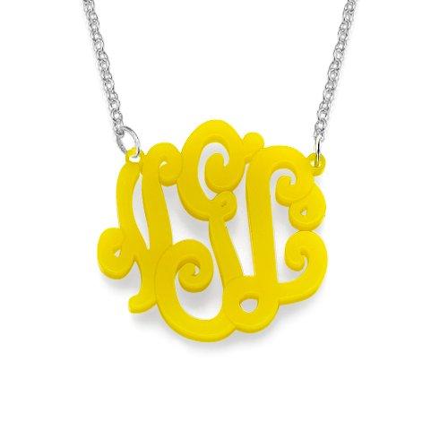 Acrylic Monogram Necklace Custom initial product image