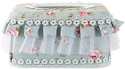 Pinklife - 1 Funda de Tela para pañuelos faciales, Rectangular, para servilletas de Papel, Caja de servilletas, Cubo, decoración de Mesa para el hogar y la Oficina, Verde, Small: Amazon.es: Hogar