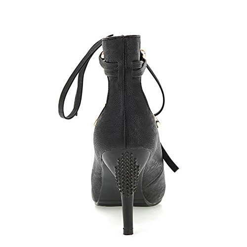 L'Europe en cuir pour femme Fish Mouth Le Frenulum Sandals Pompe étanche , black , 42