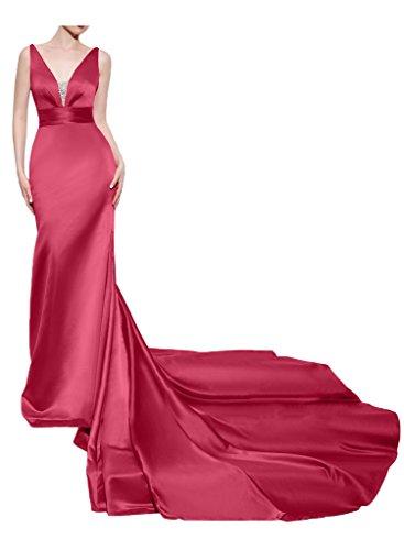 Missdressy - Vestido - cuello hálter - para mujer Wassermelone