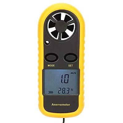 Mini Digital Anemometer, GM816 Handheld LCD Anemometer Winds Gauge Meter for Windsurfing, Fishing and Mountaineering