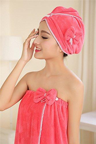 135 dei unto mantello Bagno sul di Rose microfibra torace Bra mantello doccia da con MIWANG cravatte il bianco voxel asciugamani anche la maxi bagno in gonna per colore cuffia m 80 80 135 4dqg67
