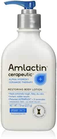 AmLactin Alpha-Hydroxy Therapy Cerapeutic Restoring Body Lotion for Arms Legs Best Dermatologist Moisturizer for Dry Skin, 7.9 Ounce