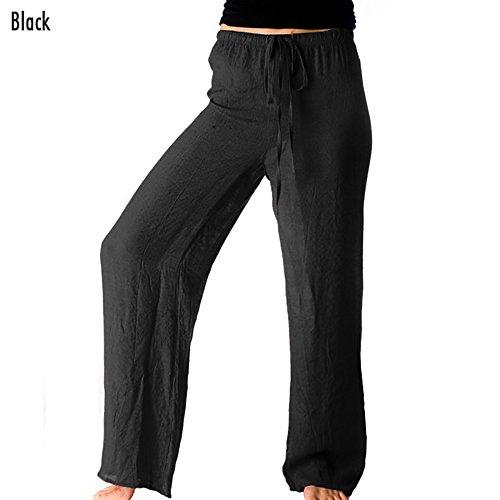 Womens Linen Drawstring Pants - 7