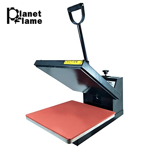 PlanetFlame Industrial-Quality CE Panel Clamshell Heat Press Machine, Professional T-Shirt Sublimation Plain Heat Transfer Presses Printing Machine 15