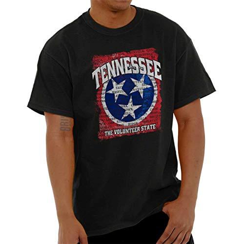 Brisco Brands Tennessee Volunteer State Flag TN Souvenir T Shirt Tee Black