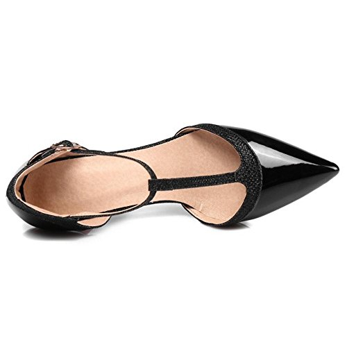 Aiguille Escarpins Salomes Black Chaussures Talons Taoffen Femmes qnTf66