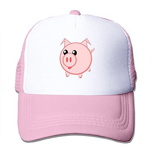 (Geek Sad Baby Pig Cartoon Adult Nylon Adjustable Mesh Hat Baseball Cap)