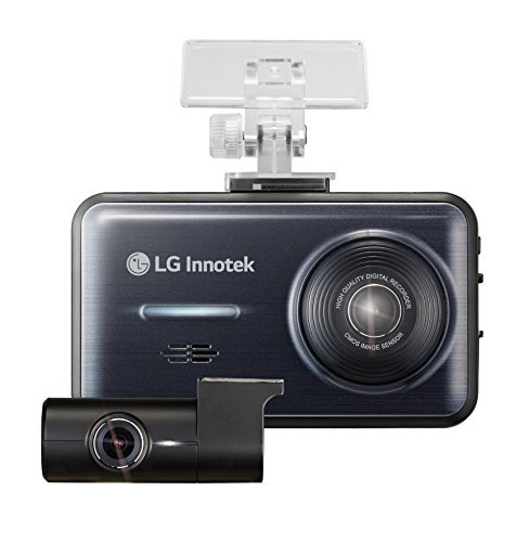 LG Innotek 2-Channel Full HD 1080p Front and Rear Dashcam with 3.5'' LCD Touchscreen and Battery Protection Hardwire Kit, 64GB Micro SD (BBDB-FF02E) by LG Innotek