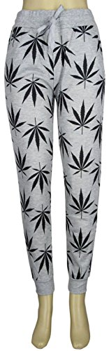 Men Women Weed Marijuana Pot Leaf Smoke Casual Jogging Pants And Track Shorts (Weed Pajama Pants)