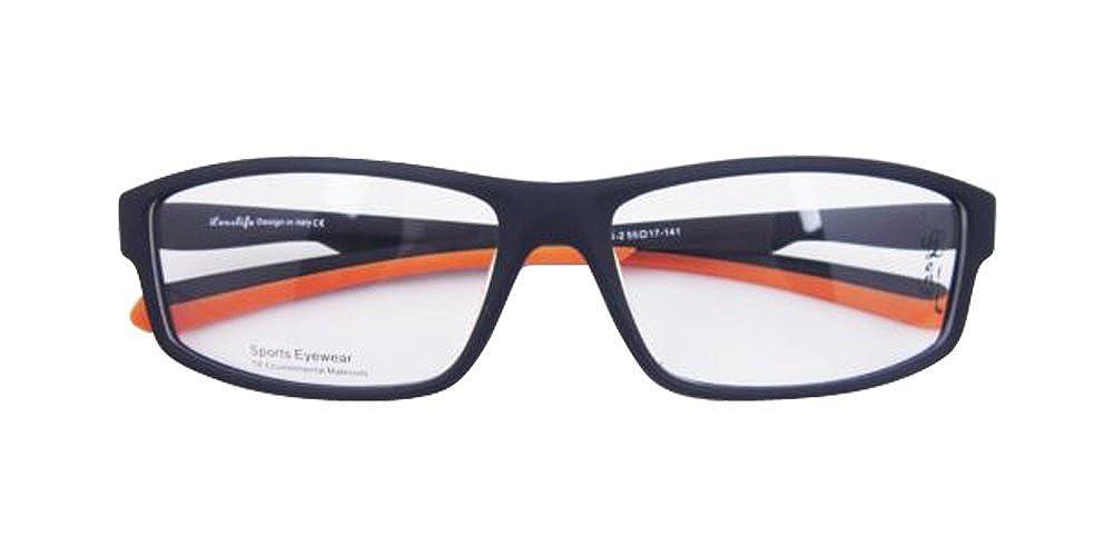 Black Orange TR90 Sport Outdoor Flexible Optical Full Rim Eyeglass Frame Spectacles Rx OP0604