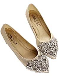 Women Ballet Princess Shoes for Casual Crystal Boat Shoes Rhinestone Women Flats Plus Size New