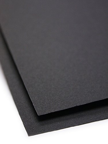 Canson Colorline Heavyweight Paper Sheets black 300 gsm 19 in. x 25 in. [PACK OF 10 ] by Canson