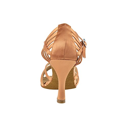 50 Shades Of Tan Dance Shoes:Comfort Evening Dress Wedding Pumps, Ballroom Shoes For Latin, Tango, Salsa, Swing, Theather Art by 50 Shades (2.5 & 3 Heels) 7032- Tan Satin
