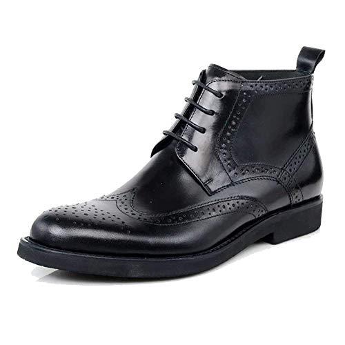 Xycszq Zapatos De Altos Black Moda Cuero Cordones Negocios Hombres Inglaterra rfrxwnPTq